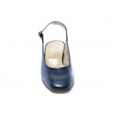 Γόβα μπλε δερμάτινη