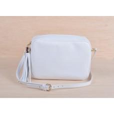 Τσάντα άσπρη δερμάτινη