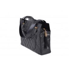 Τσάντα μαύρη δερμάτινη