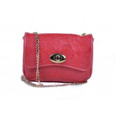 Τσάντα κόκκινη δερμάτινη