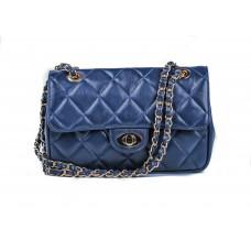 Τσάντα μπλε δερμάτινη